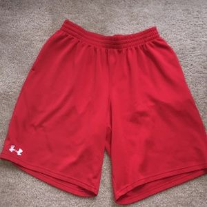 Red Under Armour Basketball shorts